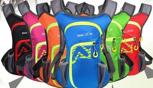 mochila de hidratación ciclismo outdoor + bolsa de 2 litros