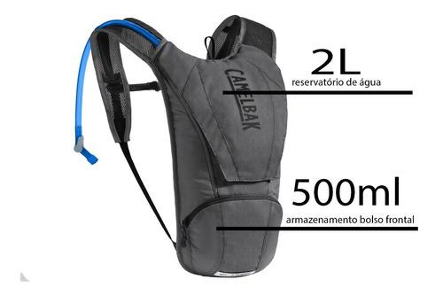mochila de hidratação camelbak classic 2,5l - grafite/preta