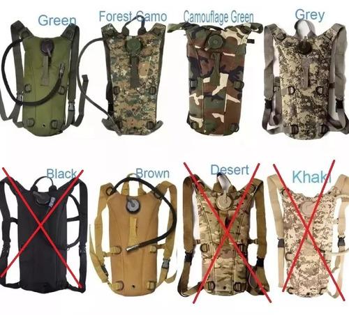 mochila de hidratação tipo camelbak militar várias cores
