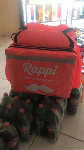 mochila de isopor nova sem marcas de uso