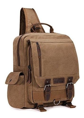 mochila de lona de una correa que cruza el cuerpo para viaja