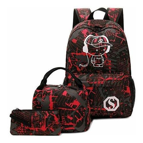mochila de lona para estudiantes estilo informal para la esc