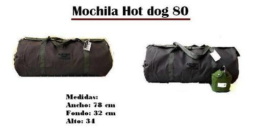 mochila de lona t.militar hotdog-80 mod:506 redisa