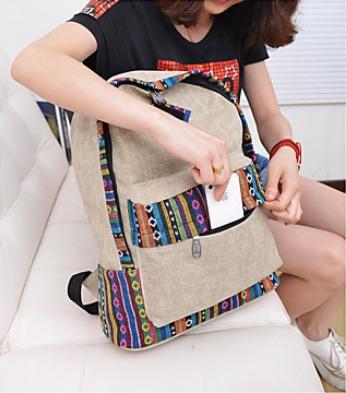 mochila de moda de lienzo