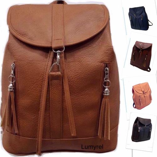 mochila de mujer grande universitaria escolar negra marrón