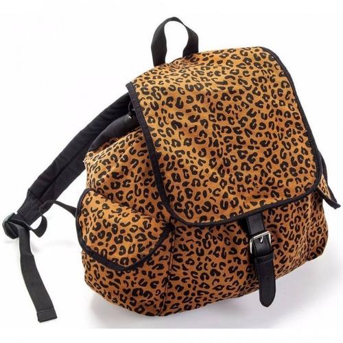 mochila de oncinha chic animal print imaginarium ludi