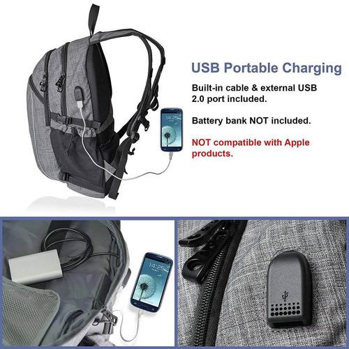 mochila de ordenador portátil con cargador us + envio gratis