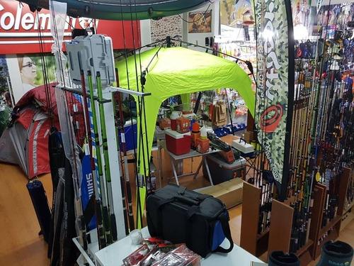 mochila de pesca shimano lug1806 señuelos vadeo trekking