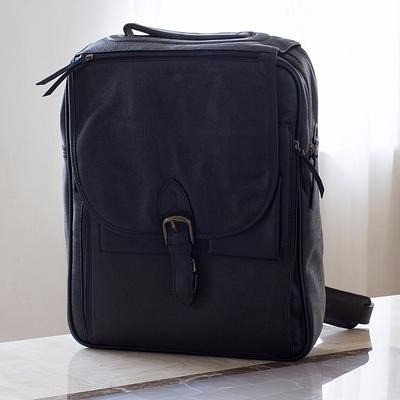 mochila de piel para laptop vanguardia mod. yale negro