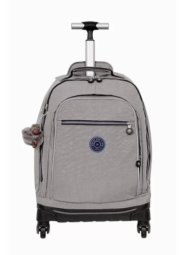 mochila de rodinha echo cinza kind grey c kipling