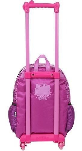mochila de rodinha hello kitty star pacific