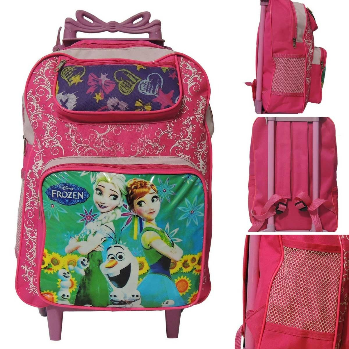 2891ec7a4 mochila de rodinha infantil feminina frozen elsa e anna (g). Carregando zoom .