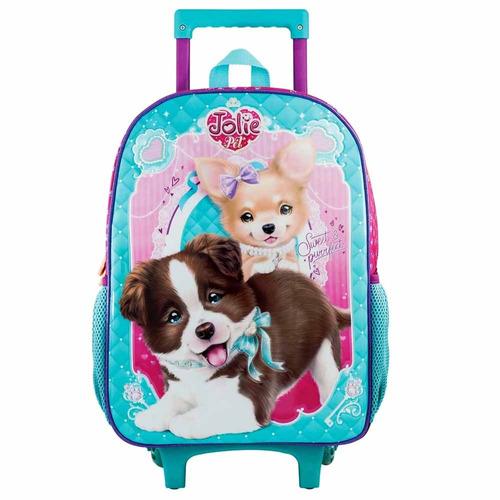mochila de rodinha jolie pet cachorro tilibra 152591