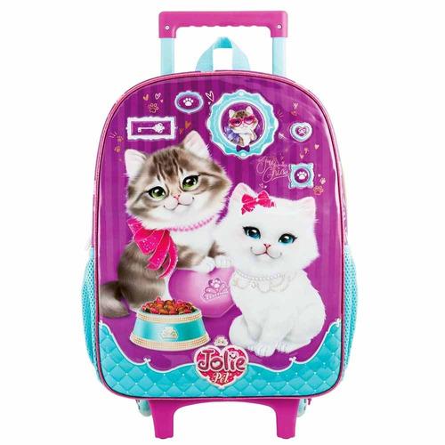 mochila de rodinha jolie pet gato tilibra 162205