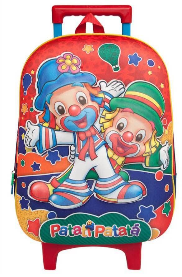 882365181 Mochila De Rodinha Patati Patatá - R$ 80,00 em Mercado Livre