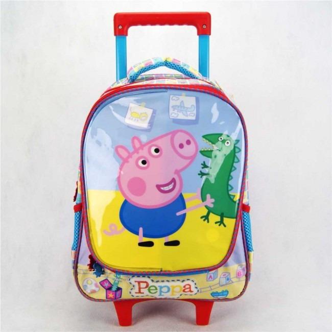 44078d9d9 Mochila De Rodinha Peppa Pig E George 14' 5551 Xeryus - R$ 209,99 em ...