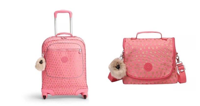 d76c7b054 Mochila De Rodinhas E Lancheira Kipling - Pink Gold Drop - R$ 1.258,20 em Mercado  Livre
