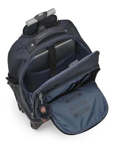 mochila de rodinhas echo azul marinho true navy kipling
