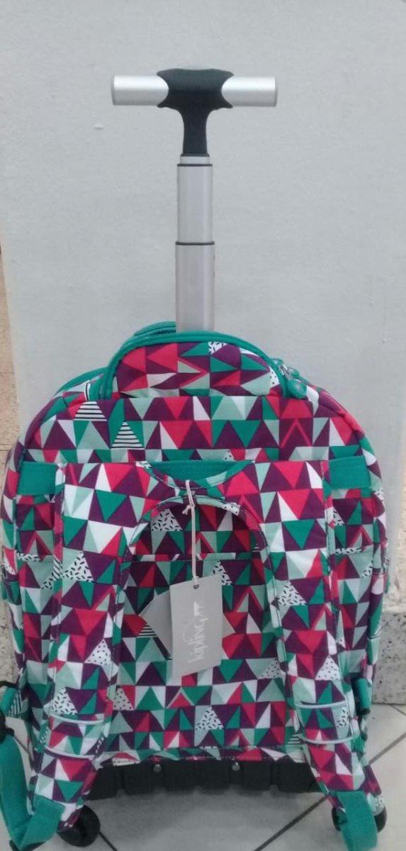 c0961ede7 mochila de rodinhas escolar viagem kipling vibrant deco. Carregando zoom.