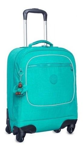 mochila de rodinhas kipling - licia aqua green [promoção]
