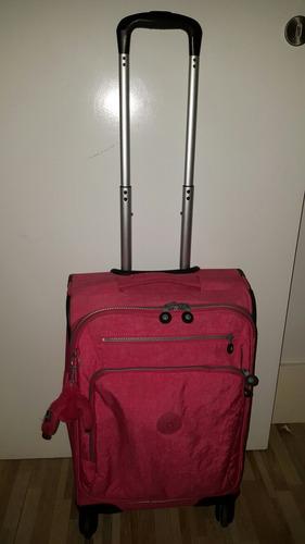 mochila de rodinhas kipling original pink