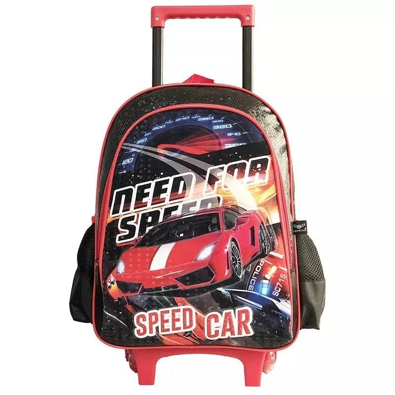 9d7c1b7a61 Mochila De Rodinhas Need For Speed Car Infantil - R  199
