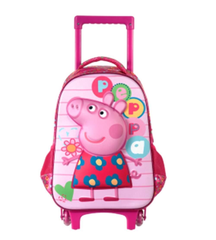 Kit Mochila Infantil Peppa Pig Tamanho M Rodinhas. mochila escolar. Midi 1;  Midi 5 ...