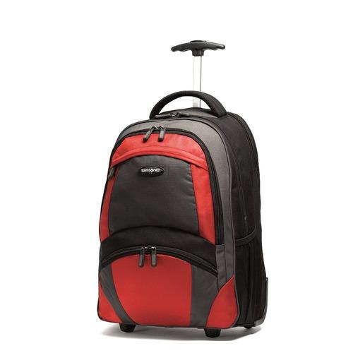 mochila de ruedas samsonite, negro / naranja, talla única