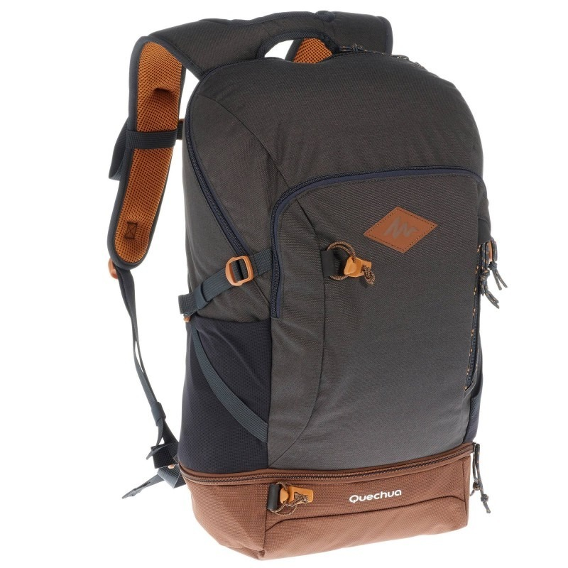 mochila de senderismo nh500 30 litros gris oscuro quechua. Cargando zoom. a85b3cdc6b5