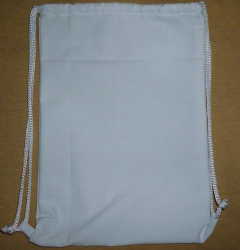 mochila de tela para sublimar o estampar de 20 x 30 cm