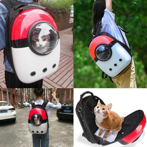 mochila de transporte de mascotas - gato, perro, conejo