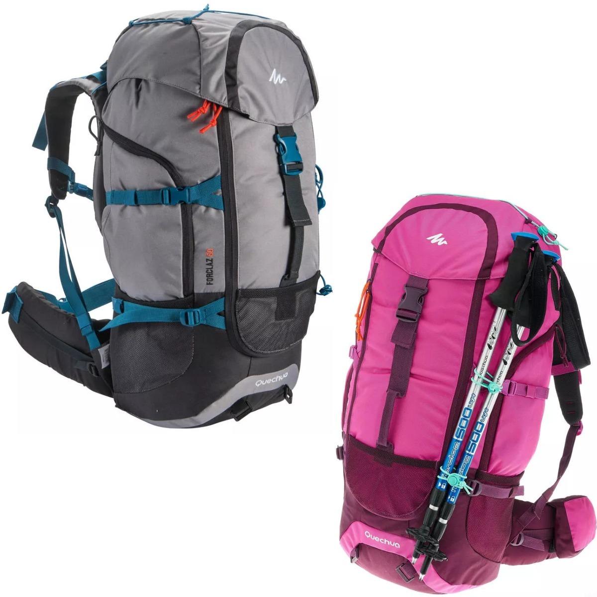 06c89f20b mochila de trekking trilha camping cargueira forclaz 50 l. Carregando zoom.