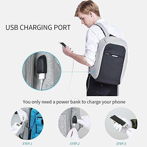 mochila de viaje antirrobo oscaurt, mochila escolar para com