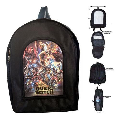 mochila de videojuegos de overwatch
