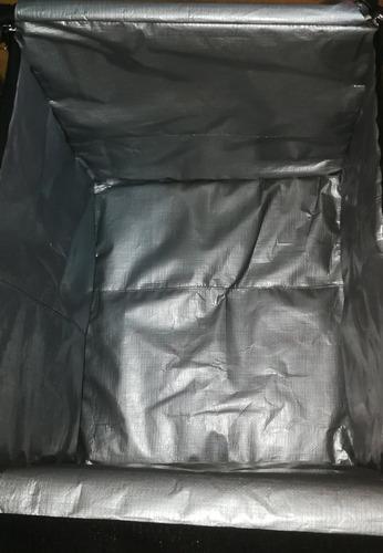 mochila delivery caja tipo glovo en color negro sin logo