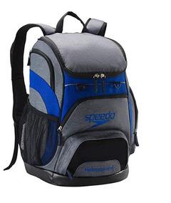 61cff0e30d98 Mochila Deportiva Gris/azul Para Natación Speedo Viaje Lapto