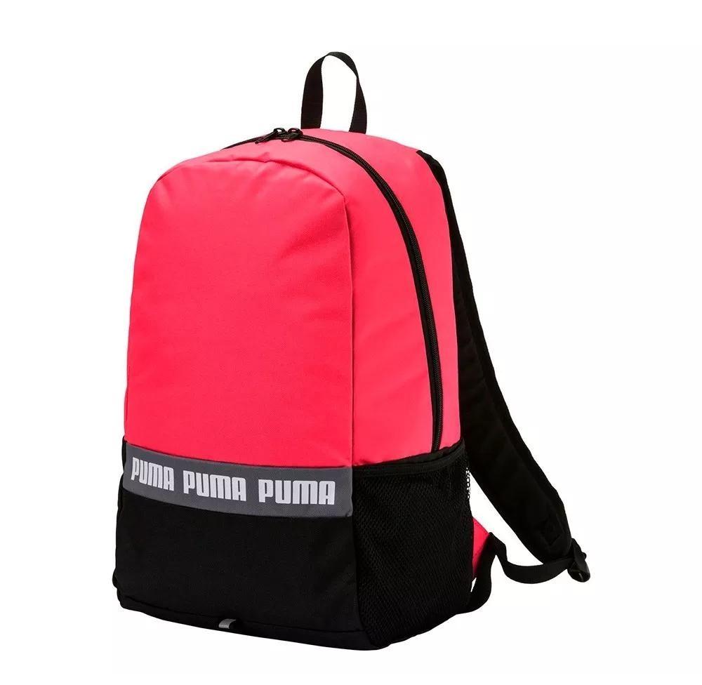 Mochila Backpack W Negro Phase Deportiva Rosa Con Puma 990 Coral 4Sqw4r