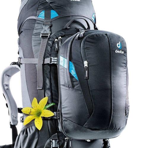 mochila deuter 60+10 litros quantum para viagens e trekking