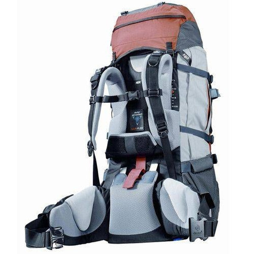 mochila deuter 60+15 litros aircontact pro camping trekking