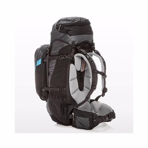 mochila deuter quantum 60+10 sl azul e preto cargueira