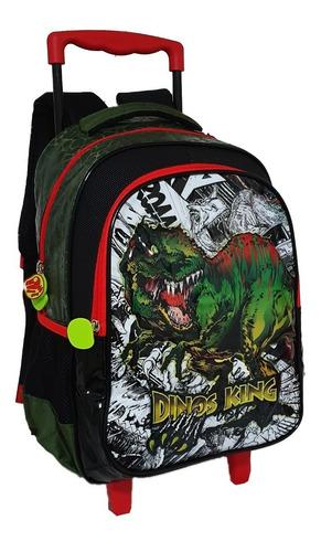 mochila dinossauro escolar infantil masculino rodinha
