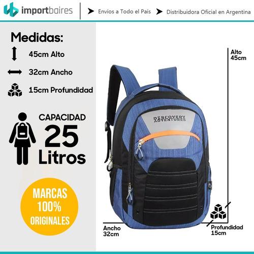 mochila discovery channel urbana de viaje reforzada premium