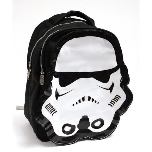 mochila disney star wars trooper 2 compartimentos negro