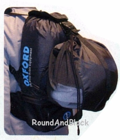 mochila dobrável para motociclista handysack 12 litros