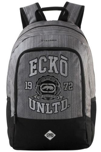 mochila ecko free way cinza chumbo- 106703