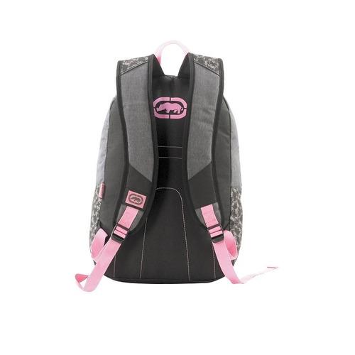 mochila ecko original cinza e rosa feminina - 107902