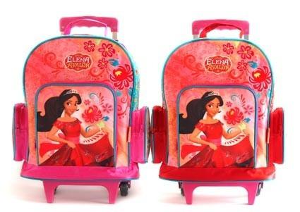mochila elena de avalor con ruedas escolar 28x12x37cm 739w