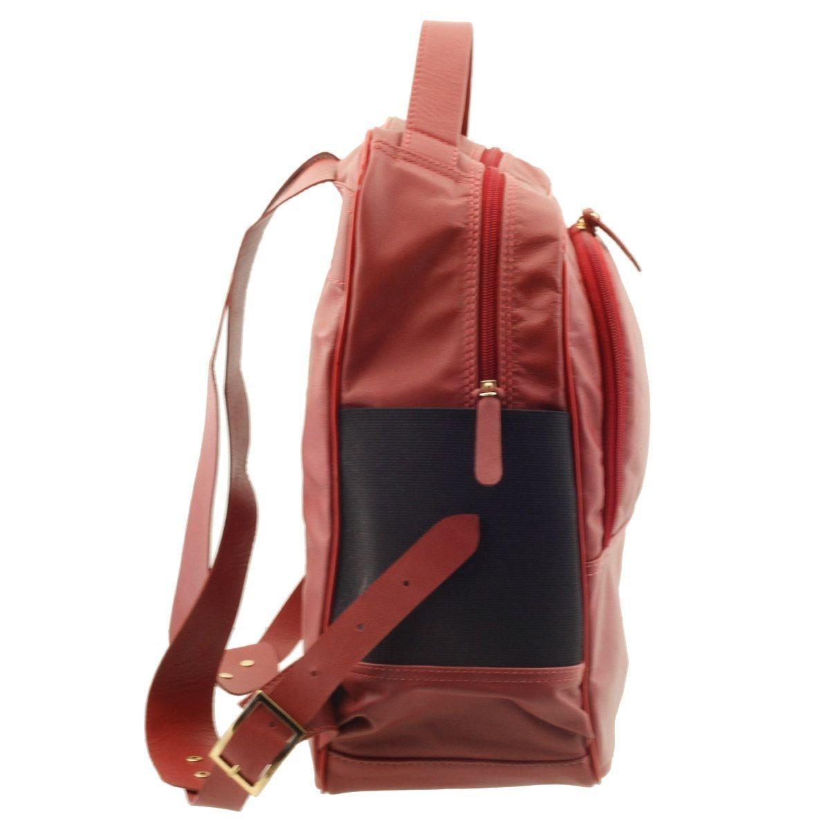 dd96123065 mochila em couro legítimo arzon vermelha. Carregando zoom.