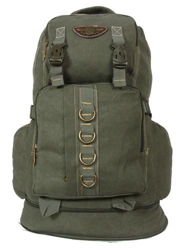 mochila em lona reforçada 50 l, ideal  viagem, acampamentos