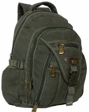 mochila em lona super resistente saida fone de ouvido 9606